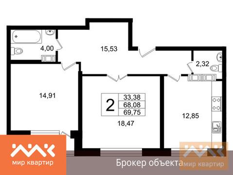 Продается 2к.кв, Свердловская - Фото 1