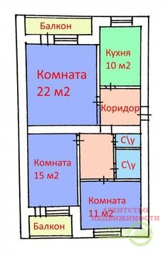 Просторная 3-х комнатная квартира 74 м2 в хорошем состоянии в . - Фото 2