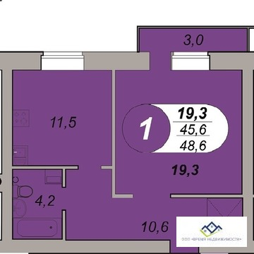Продам 1-тную квартиру Шаумяна 122, 13 эт, 48,6 кв.м.Цена 2150 т.р - Фото 1