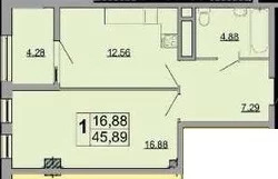 Объявление №54376269: Квартира 1 комн. Белгород, ул. Есенина, дом 9,