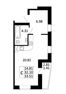 Продается квартира студия в г. Никольское - Фото 4