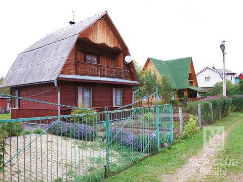 Дом из бруса, 100 кв.м. Печь. Баня. Сад 6 соток. 65 км.от МКАД. - Фото 1
