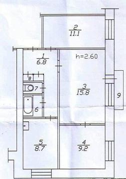 3-комнатная Красноярский рабочий 83 (Токмак) - Фото 1