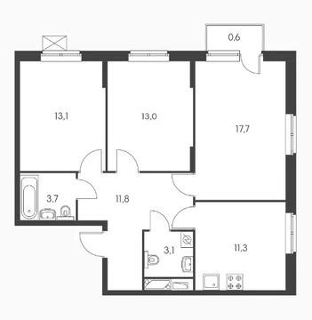 Объявление №50529969: Квартира 3 комн. Обнинск, ул. Курчатова, к3,