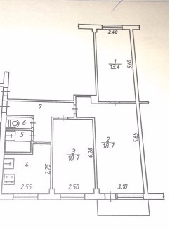Продается 3-комнатная квартира 59 кв.м. на ул. Николо-Козинская - Фото 5