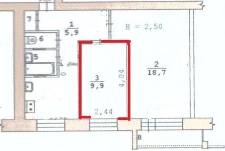 Продам комнату в 2-х ком. квартире у. Блюхера 57 - Фото 2