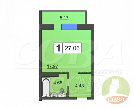 Продажа квартиры, Тюмень, Голышева - Фото 1