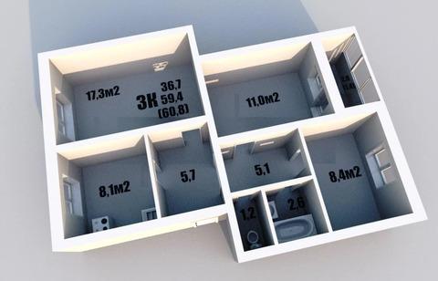Объявление №53584274: Продаю 3 комн. квартиру. Вологда, ул. Ярославская, д. 16Б,