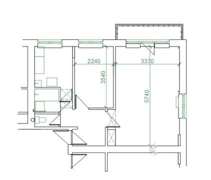 Меняю 2 ком. кв. м. Щелковская в доме под реновацию на равноценную.