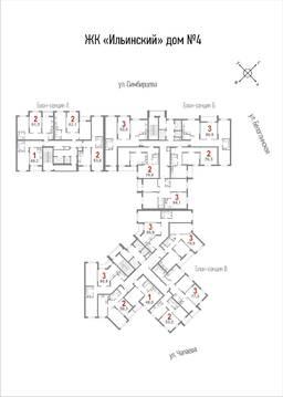 2-к квартира, 63.8 м2, 4/25 эт, пл. Ильинская, д. 5, стр. 4 - Фото 3