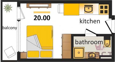 Объявление №50183917: Квартира 1 комн. Екатеринбург, Банный пер., 12,