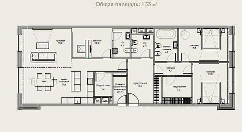Элитный комплекс апартаментов «Гороховский 12». Апартамент 132,7 км. м - Фото 3