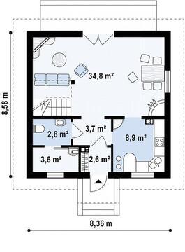 Дом 107 м2 на участке 4 сот. пос. Западный-2 - Фото 2