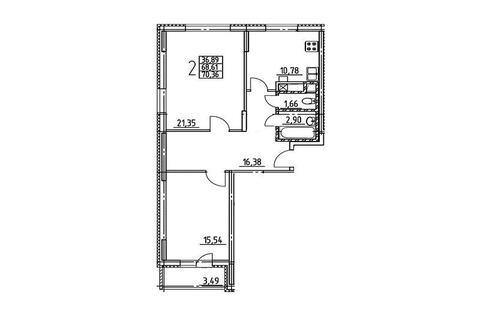 Новая двухкомнатная квартира в Волоколамске на ул. Фабричная. - Фото 3