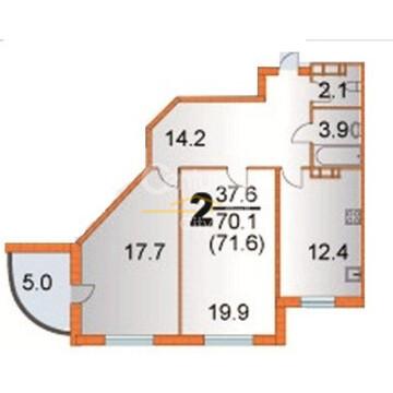 2-х комнатная квартира (тип 5) г.Пермь ул.Грибоедова 72 - Фото 2