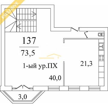 Пентхаус в ЖК Берег 01а0137 - Фото 2