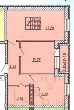 2-комнатная квартира 49кв.м. - Фото 3