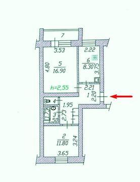 Продам 2 комнатную квартиру с типовым ремонтом в юзр Чебоксары