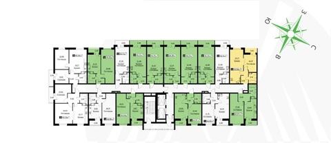 Студия 28,23 м2 в жилом комплексе Цвета радуги 3 оч. корп. 3 - Фото 3