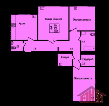 Продажа квартиры, Псков, Ул. Красноармейская, Продажа квартир в Пскове, ID объекта - 328023370 - Фото 1