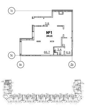 Продажа торгового помещения 80.8 м2 - Фото 3
