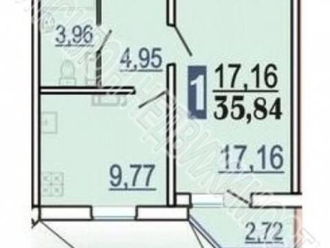 Продажа однокомнатной квартиры на проспекте Победы, 34 в Курске, Купить квартиру в Курске по недорогой цене, ID объекта - 320006424 - Фото 1