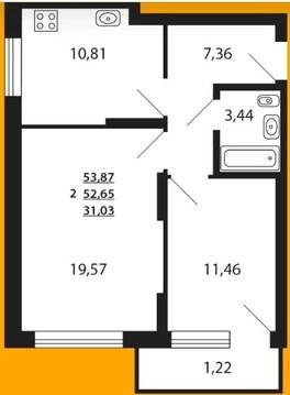 ЖК Сказочный лес корпус Кипарис продается двухкомнатная квартира - Фото 4