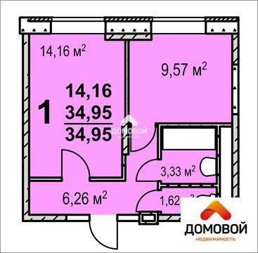 1-комнатная квартира в новостройке, Васильевское, рядом с г. Серпухов - Фото 1