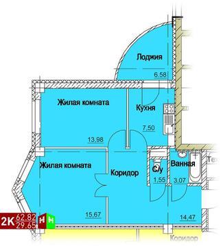 3 517 920 Руб., Продажа двухкомнатная квартира 62.82м2 в ЖК Европейский кольцевая 36, Купить квартиру в Екатеринбурге по недорогой цене, ID объекта - 315127635 - Фото 1