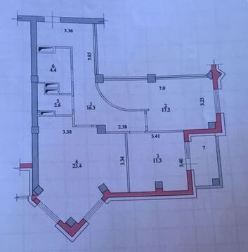 Продам двухкомнатную (2-комн.) квартиру, 8 Воздушной Армии ул, 6а, . - Фото 2