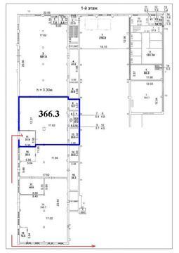 Аренда складских помещений 366.3 кв.м. Метро Щелковская - Фото 1