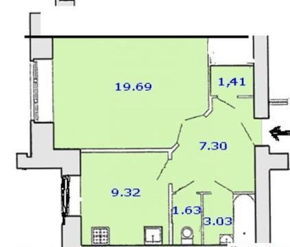 Продажа 1 комнатной квартиры Кочетова, дом 30 к 4 - Фото 2