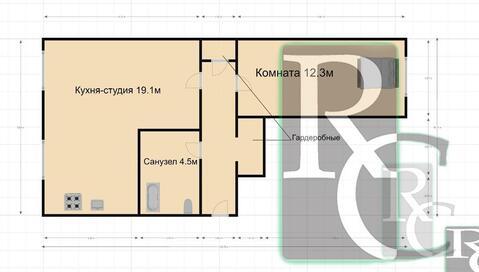 Продаётся уникальная двухкомнатная квартира на Героев Севастополя 56! - Фото 1
