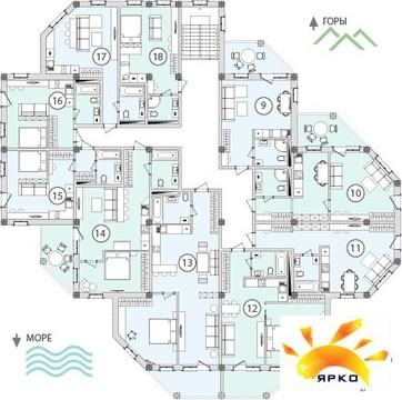 Квартира в новостройке Кореиз пгт, ялта - Фото 2