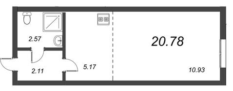 Продам студию. Воронцовский б-р к.А-Г, Купить квартиру Мурино, Всеволожский район по недорогой цене, ID объекта - 318417937 - Фото 1