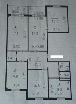 5-комнатная квартира в Тосно - Фото 3