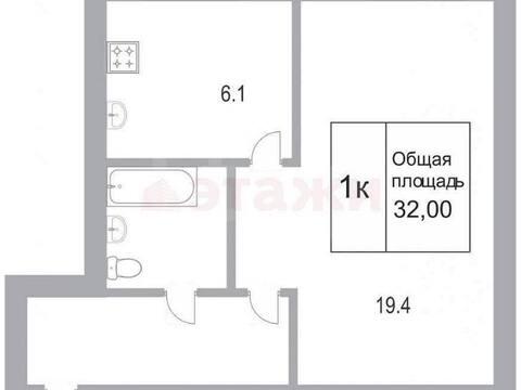 950 000 Руб., Продажа однокомнатной квартиры на улице Ватутина, 12 в Новокузнецке, Купить квартиру в Новокузнецке по недорогой цене, ID объекта - 319828499 - Фото 1