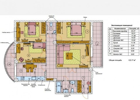 Четырехкомнатная квартира: г.Липецк, Зегеля улица, 21а - Фото 2