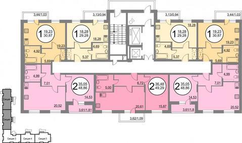 Продам 1-комнатную квартиру- студию в новостройке с переменной . - Фото 3