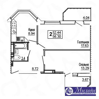Объявление №61449624: Квартира 2 комн. Батайск, ул. Огородняя, 1005,