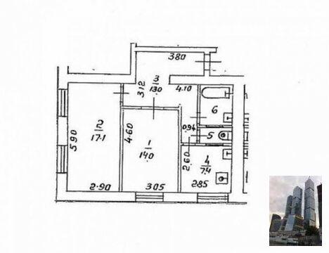 2-к. квартира, м. Войковская, Матроса Железняка бульвар, 10 - Фото 1