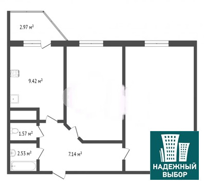 Объявление №65278616: Продаю 2 комн. квартиру. Тюмень, ул. Беляева, д. 35 к 2,
