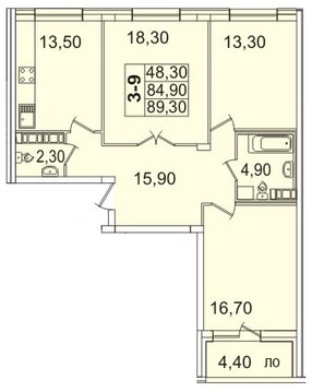 Продам 3к. квартиру. Пионерская ул, д.50 к.4-3, Купить квартиру в Санкт-Петербурге по недорогой цене, ID объекта - 317901729 - Фото 1