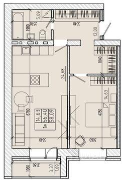 Продаю1комнатнуюквартиру, Абакан, улица Комарова, 3, Купить квартиру в Абакане по недорогой цене, ID объекта - 322749108 - Фото 1