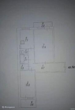 Квартира 2-комнатная Саратов, Кировский р-н, ул Геофизическая - Фото 1