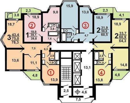 Продам 2-х комнатную квартиру в Щитниково