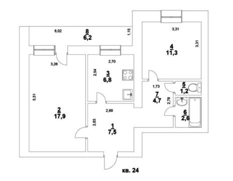 Продаётся 2-комнатная квартира, 58м2, 4/10 эт. в Октябрьском р-не - Фото 2