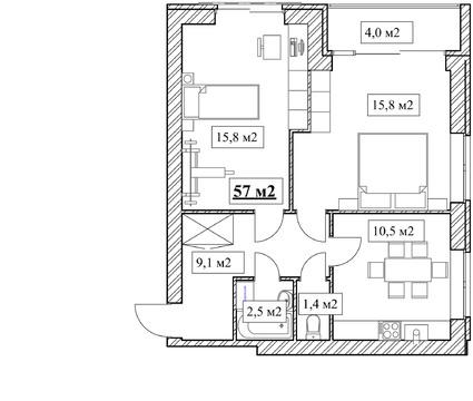 Продам 2-комнатную квартиру, 57м2, ЖК Прованс, фрунзенский р-н - Фото 5
