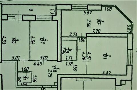 Шикарная 3х-комнатная квартира 95 кв.м. с панорамным остеклением - Фото 4