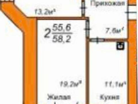 2 720 000 Руб., Продажа двухкомнатной квартиры в новостройке на улице Пушкина, 108 в ., Купить квартиру в Благовещенске по недорогой цене, ID объекта - 319893315 - Фото 1